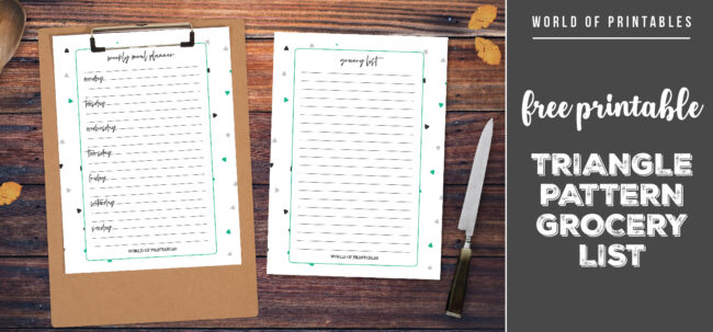 Free Printable Triangle Pattern Grocery List