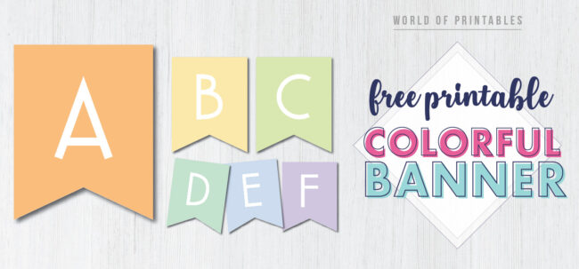 Free Printable colorful banner letters . Customize these colorful free happy birthday party banner for birthday party or baby shower