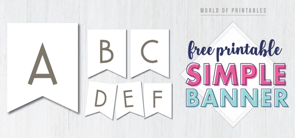Free Printable simple banner letters. birthday banner template ideas.