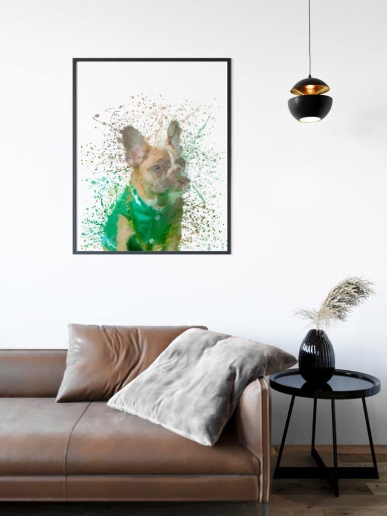 French Bulldog Splash Wall Art