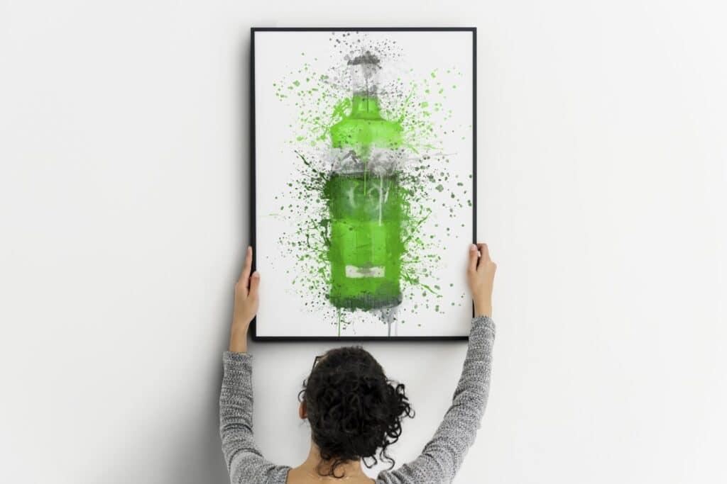 Green Gin Splash Wall Art