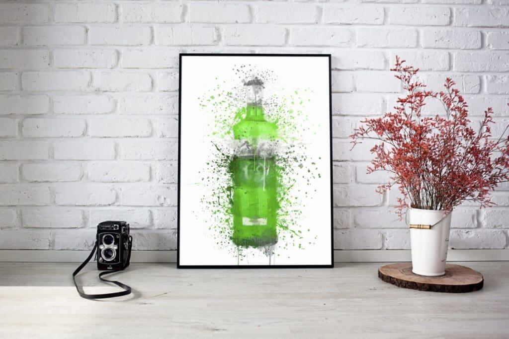 Green Gin Splash Wall Art 2