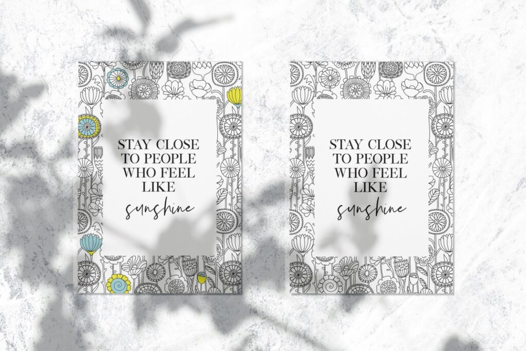 Inspirational Quote Coloring Page 15 Mockup 3