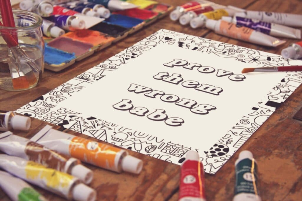 Inspirational Quote Coloring Page 21 Mockup 1