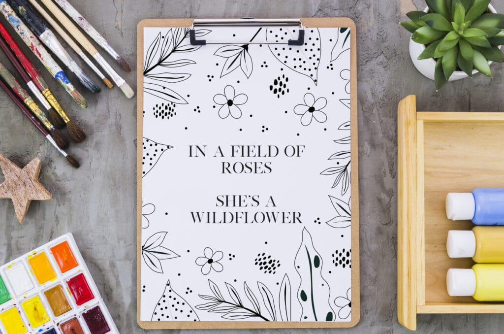 Inspirational Quote Coloring Page 33 Mockup 4