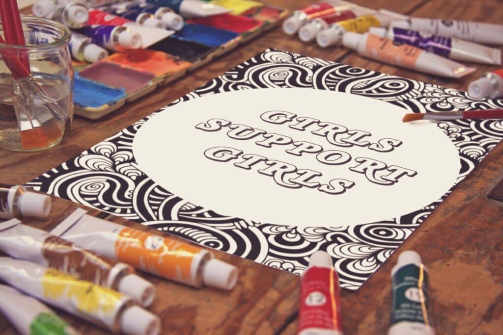 Inspirational Quote Coloring Page 43 Mockup 2 (1)