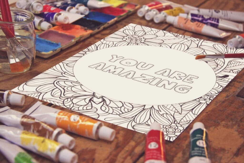 Inspirational Quote Coloring Page 46 Mockup 2 (1)