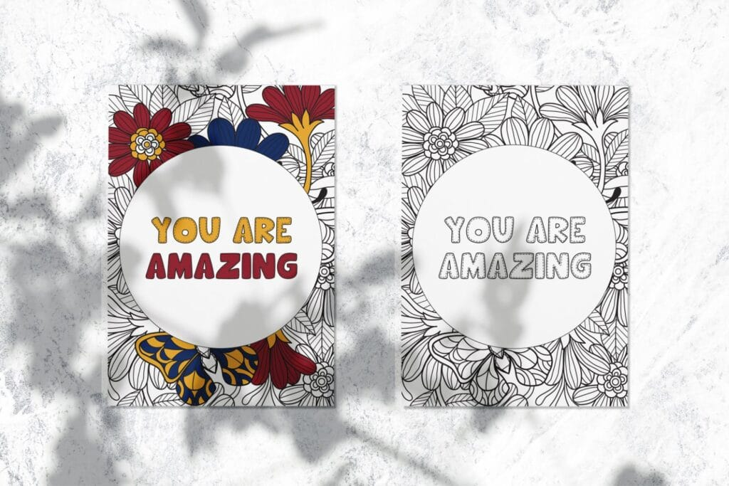 Inspirational Quote Coloring Page 46 Mockup 3