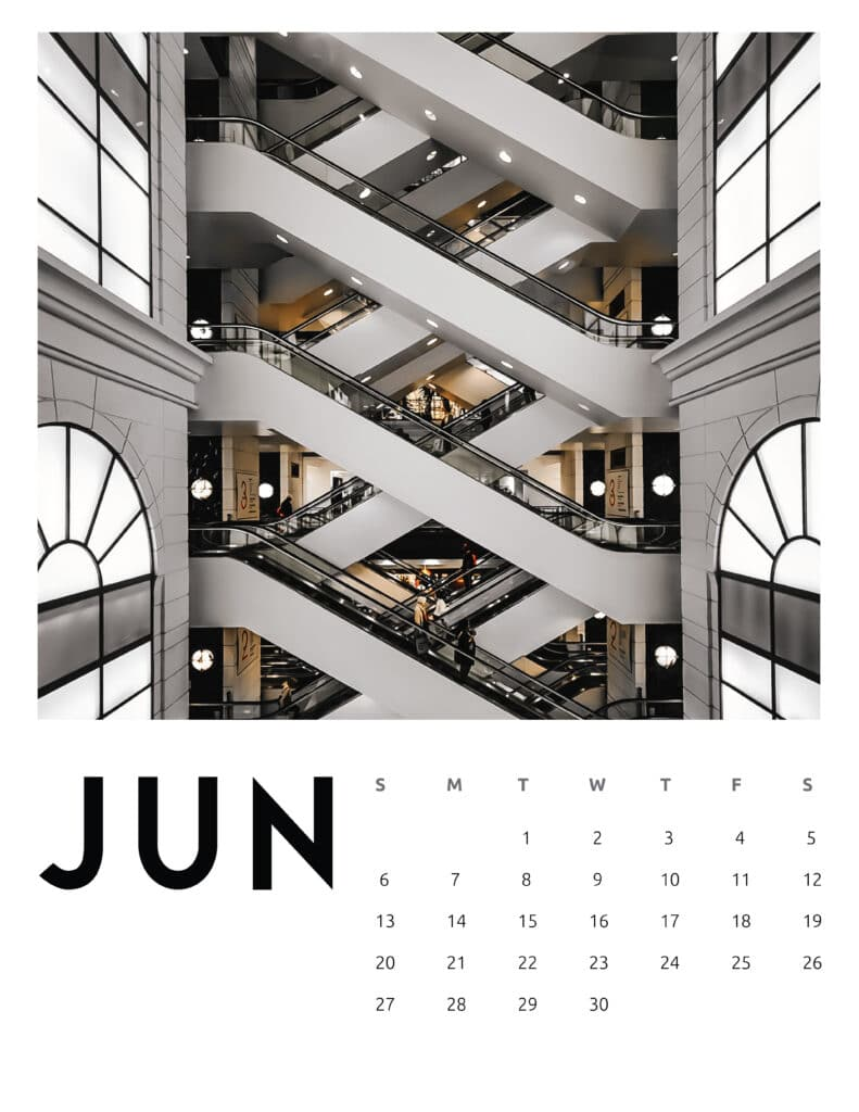June 2021 Calendar Abstract Photography