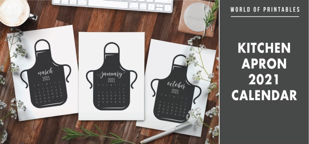 Kitchen apron 2021 Calendar