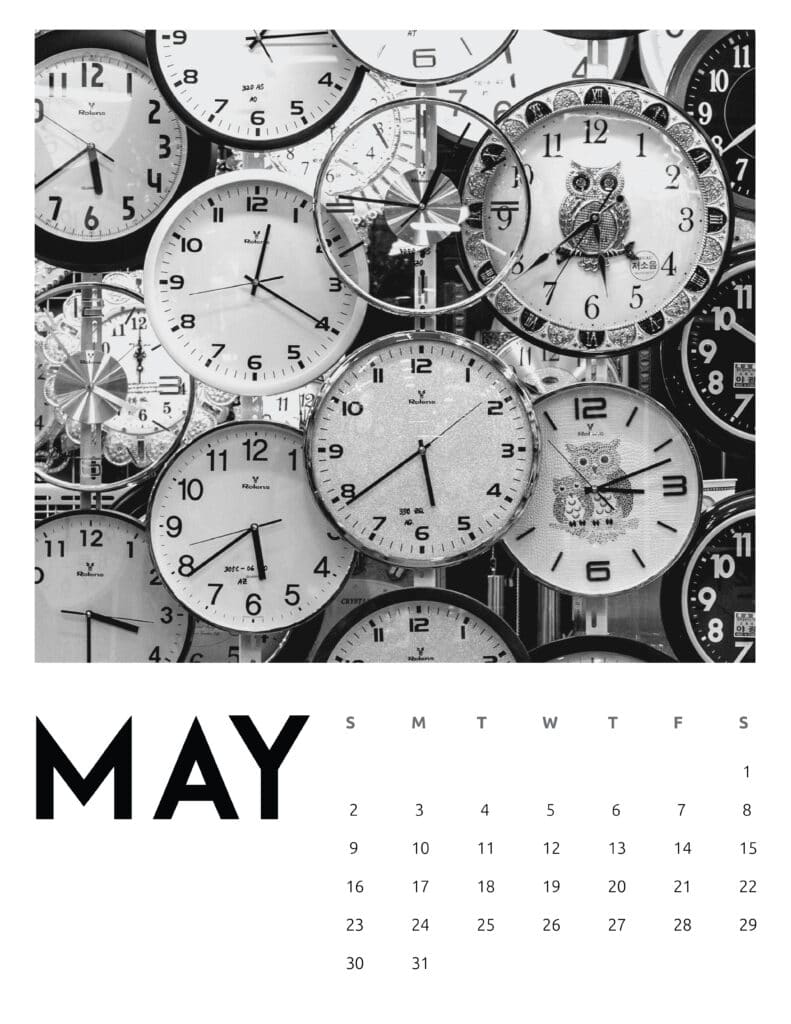 May 2021 Calendar Abstract Photography