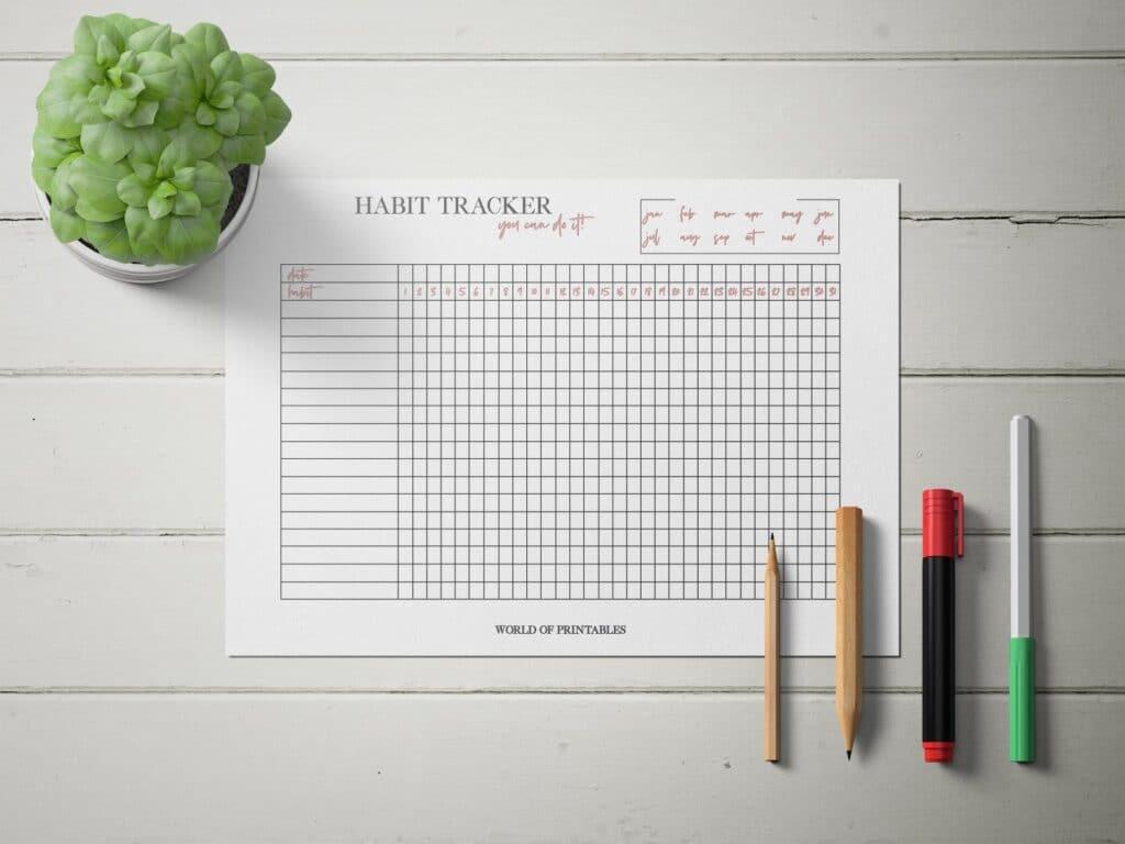 Minimal Habit Tracker Mockup 2