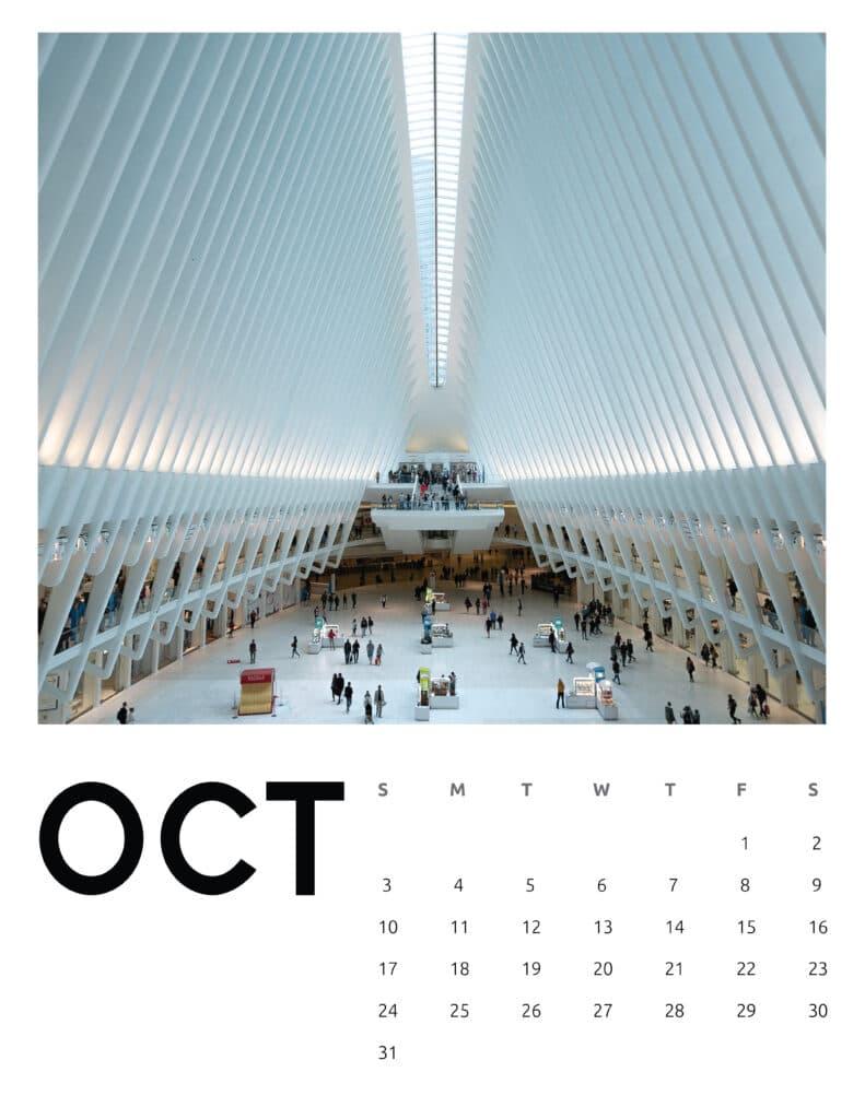 October 2021 Calendar Abstract Photography