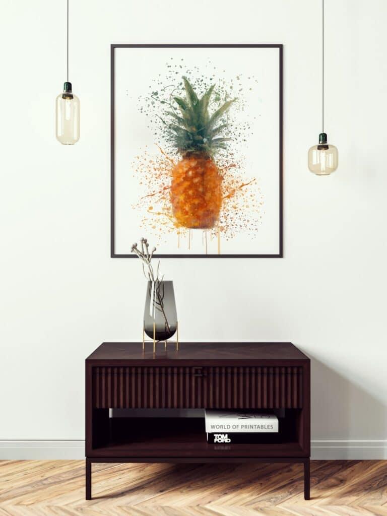 Pinapple Splash Wall Art