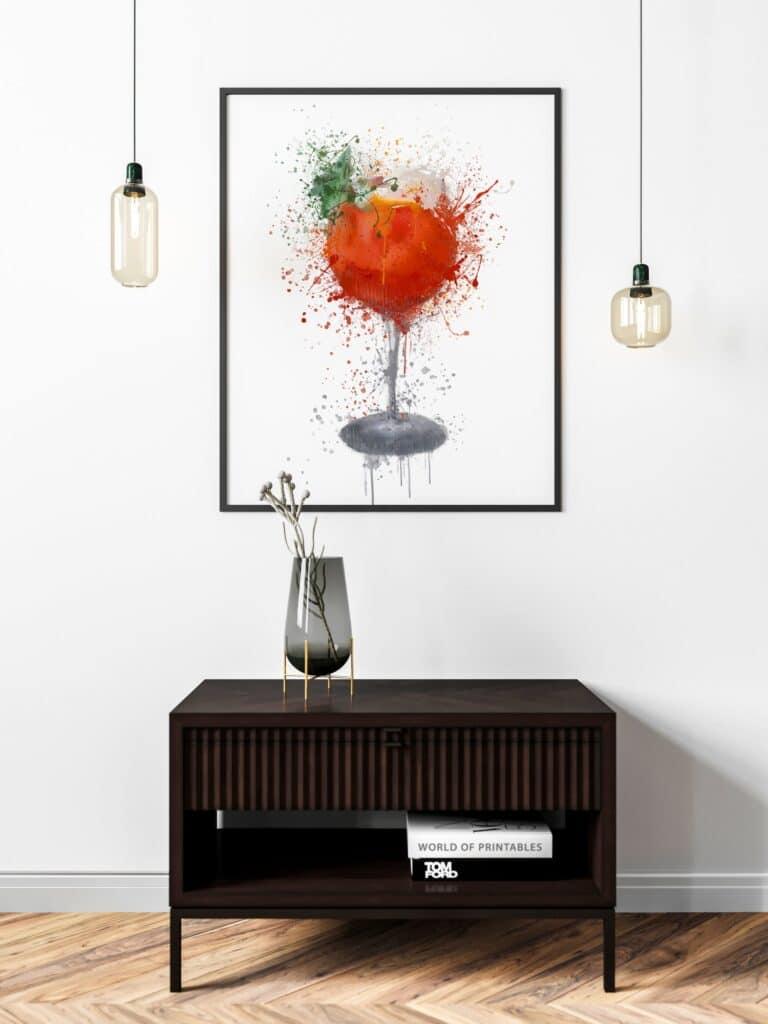 Cocktail Abstract Splatter Printable Wall Art