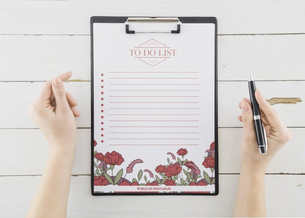 Red Floral To Do List Printable