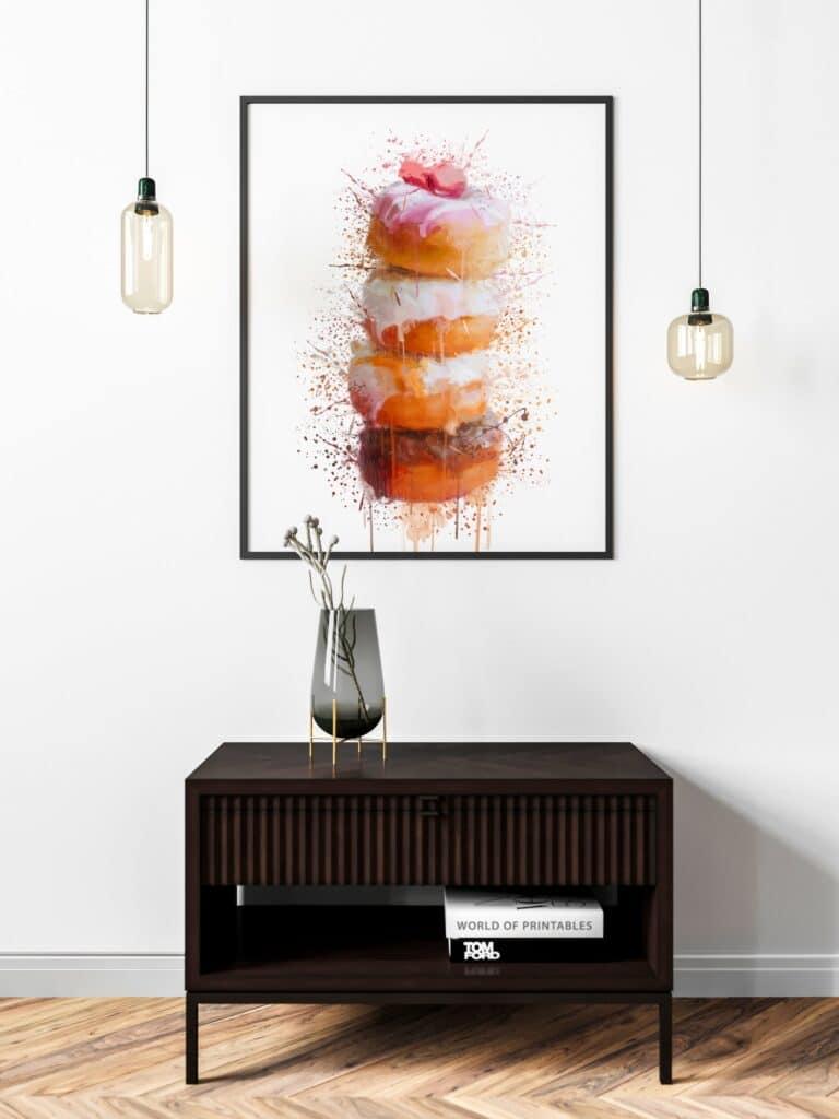 Stack of Donuts Splash Wall Art 3