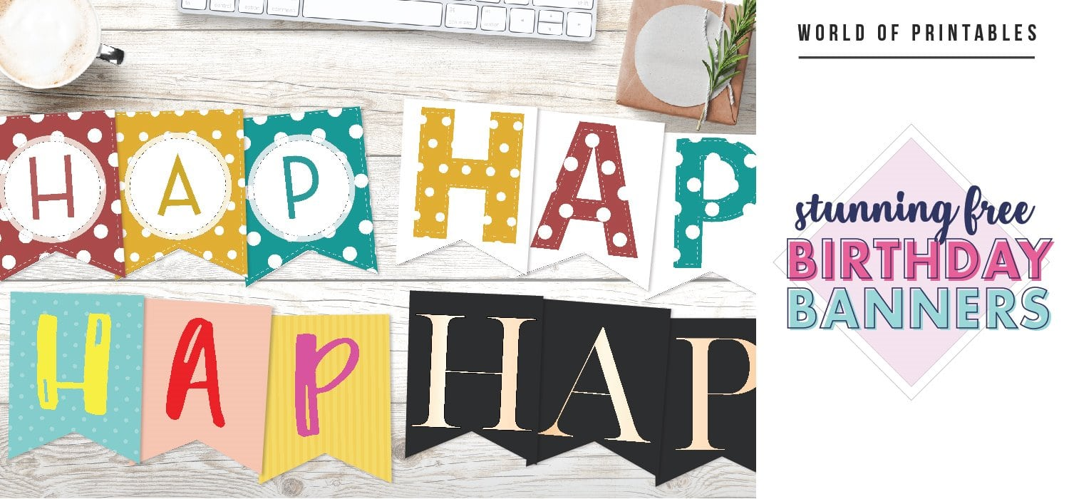 Free Printable Birthday Banner Ideas For All Ages World Of Printables