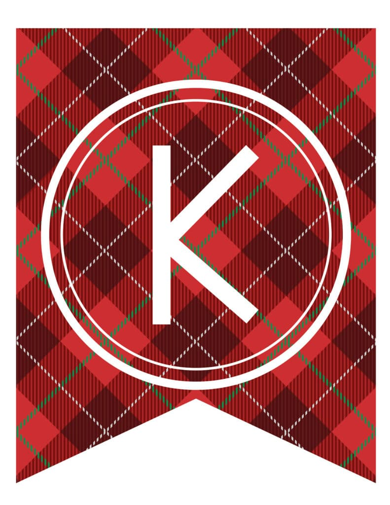 Free Printable tartan banner letters. These tartan free printable letters for banners are a great DIY to customize a banner for a new year party or birthday party.