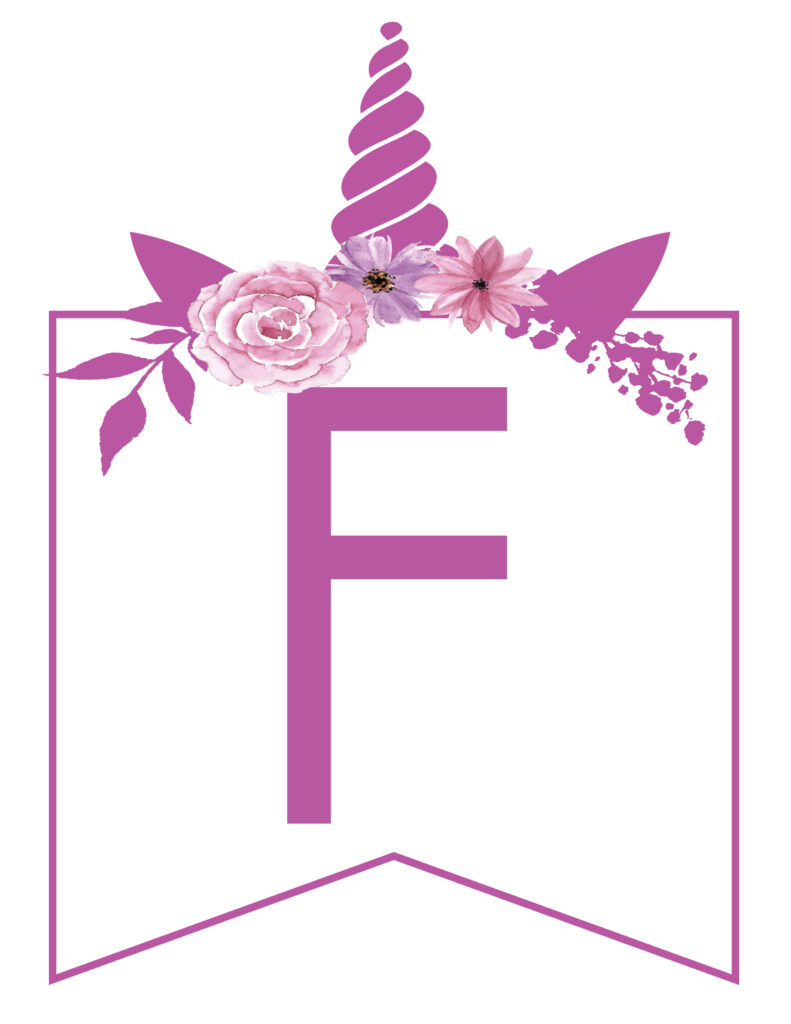 Free Printable unicorn banner letters