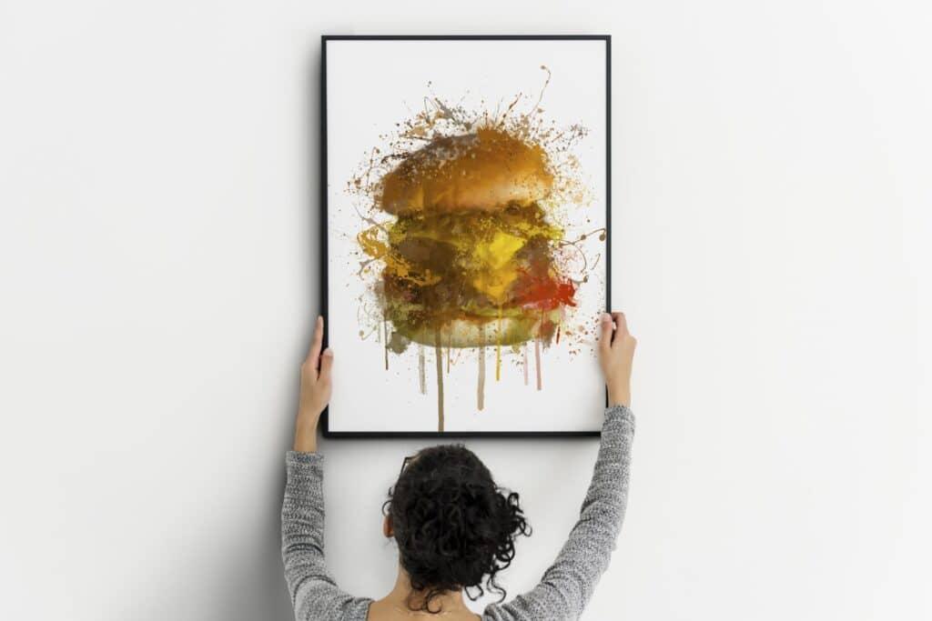 Burger Splash Wall Art