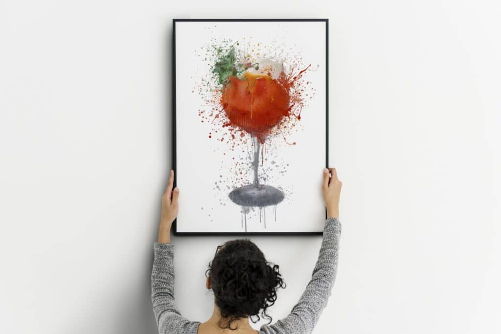 Cocktail Splash Wall Art