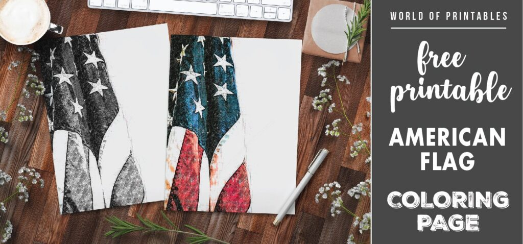 Free Printable Coloring Page American Flag World Of Printables