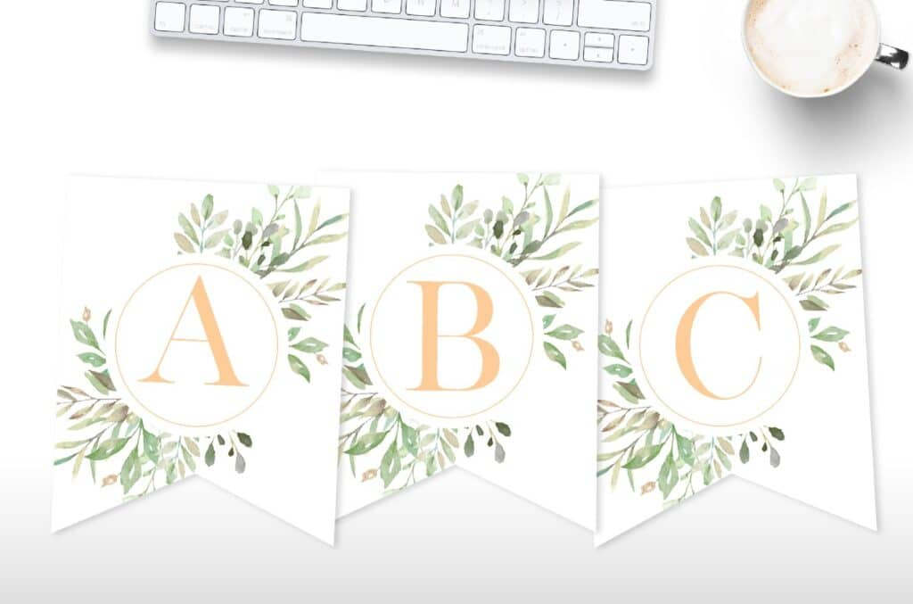 Free printable floral banners