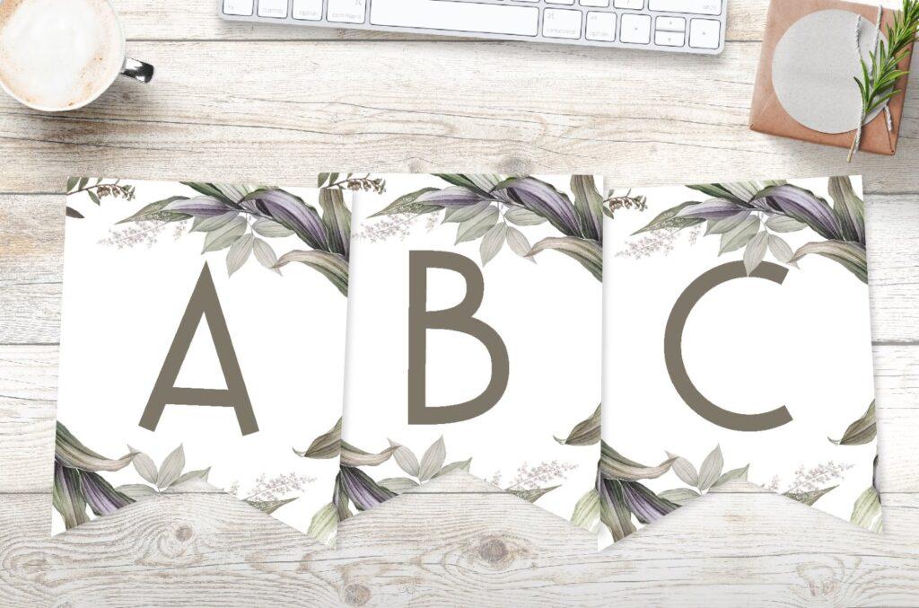 Free Printable Elegant Botanical Banner