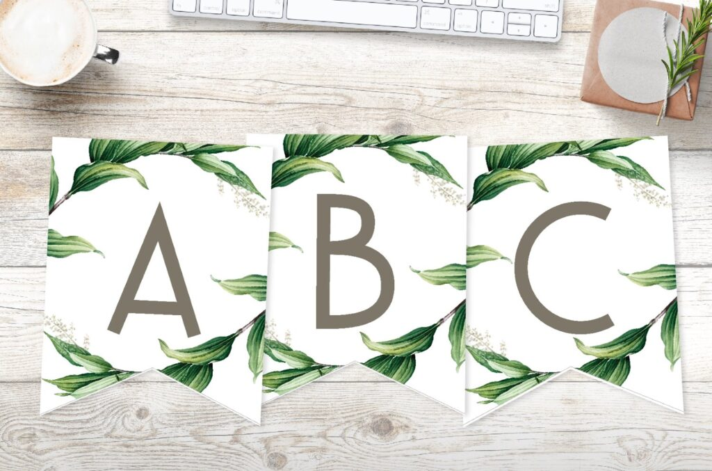 Free Printable Botanical Wrapped Banner