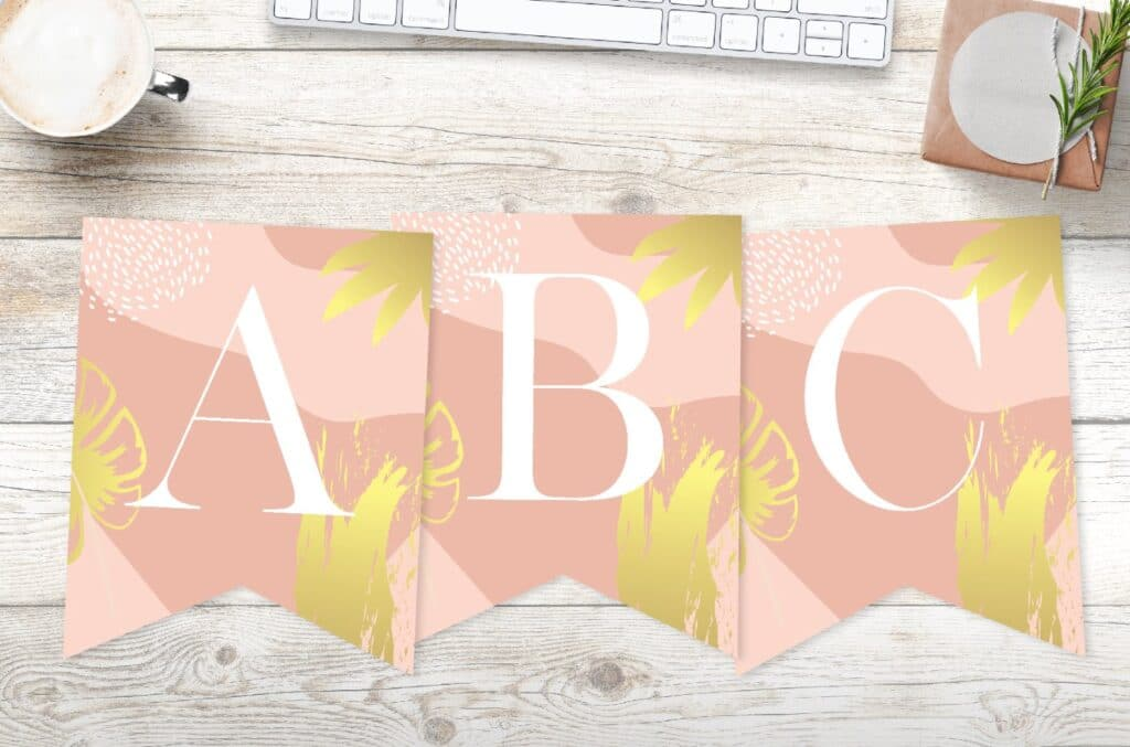 Free printableabstract floral banner template