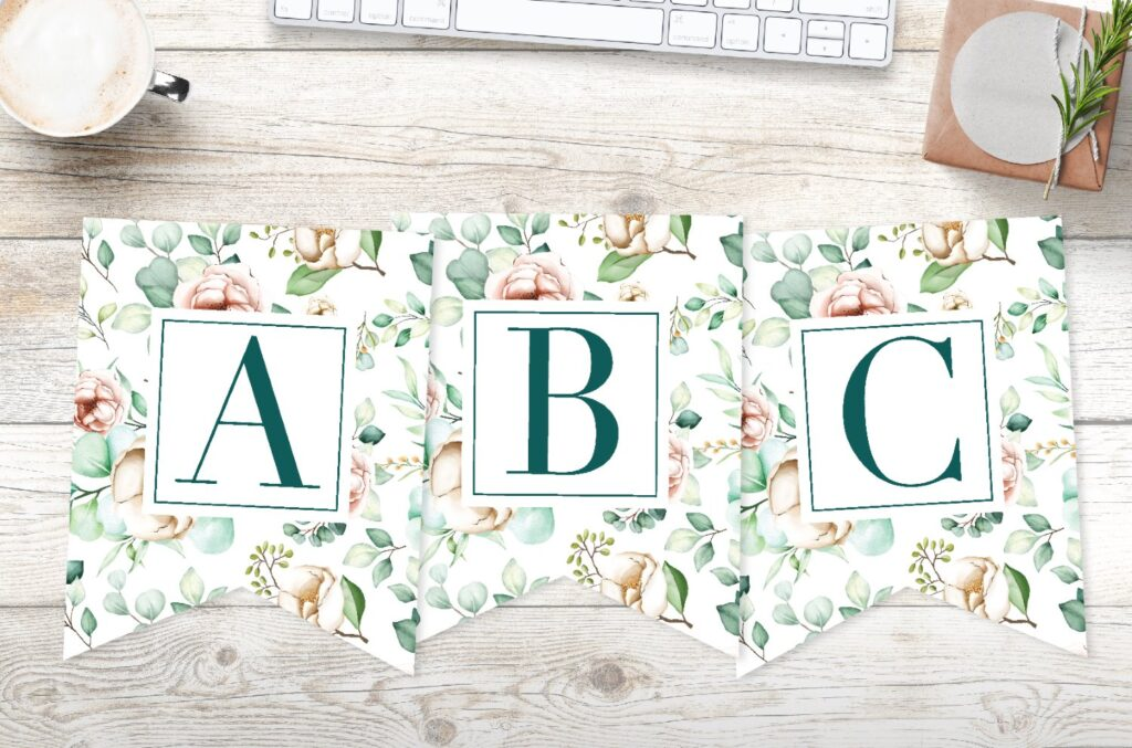 Free Printable Traditional Banner Letters