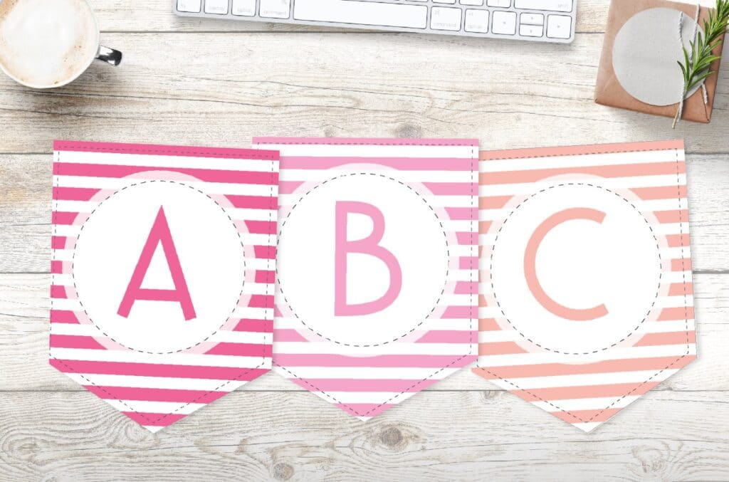 Free printable banner templates with colorful stripes
