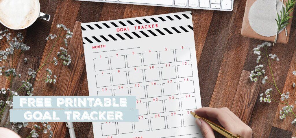 free printable goal tracker template