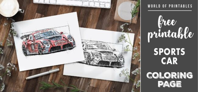 free printable sports car coloring page - world of printables