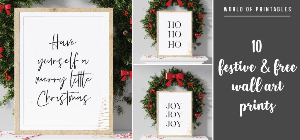 10 Stunning Free Printable Wall Art Prints For the Perfect Christmas Look