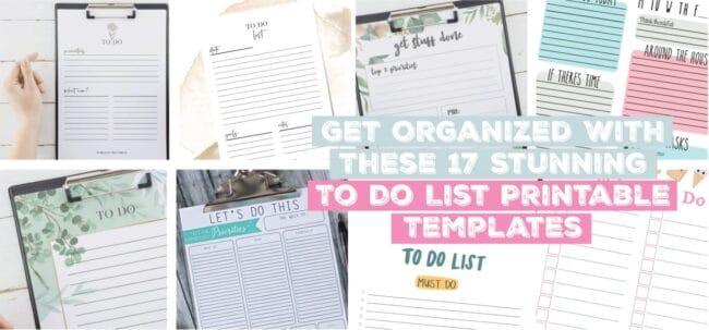 17 Stunning To Do List Printable Templates
