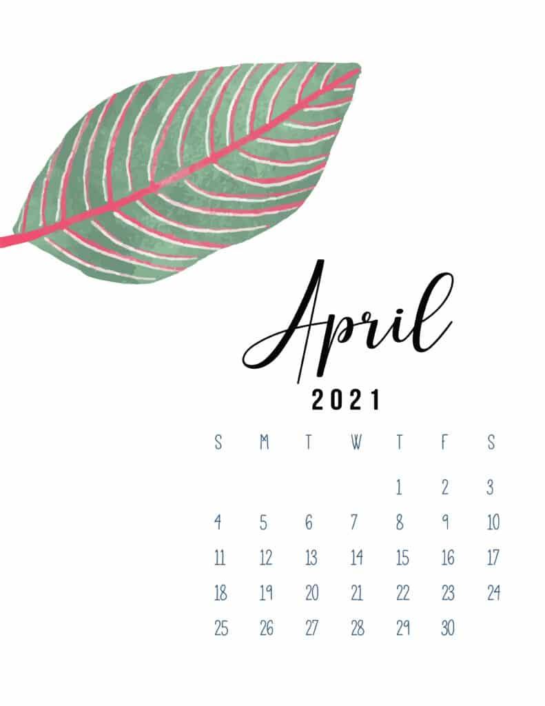 April 2021 Botanical Calendar