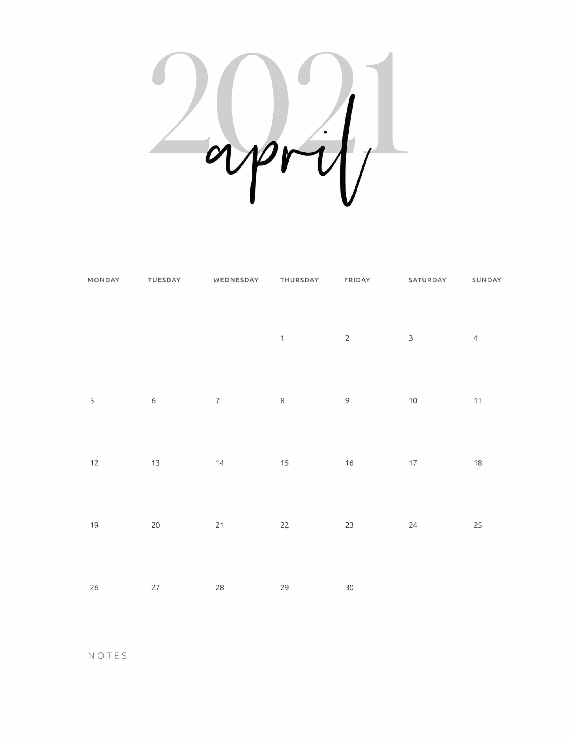 2021 Calendar Printable Cursive - World of Printables