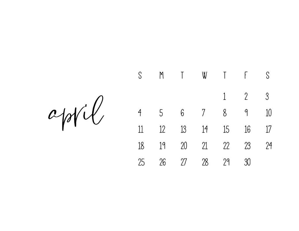 April 2021 Calendar Printable Free Template