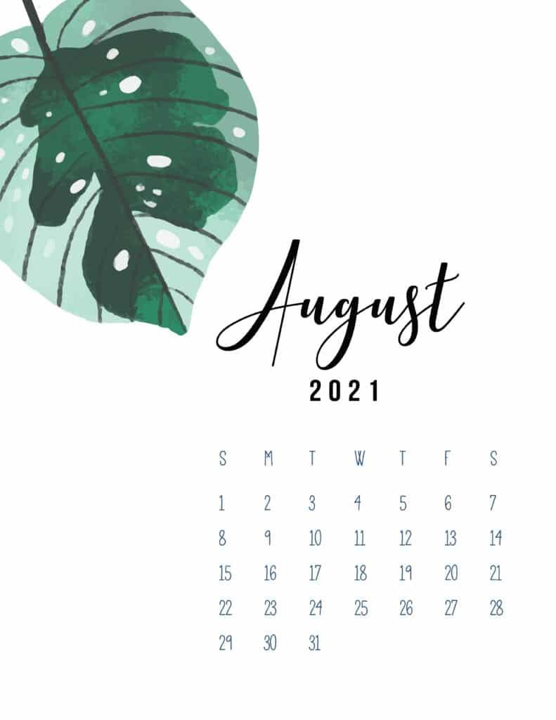 August 2021 Botanical Calendar