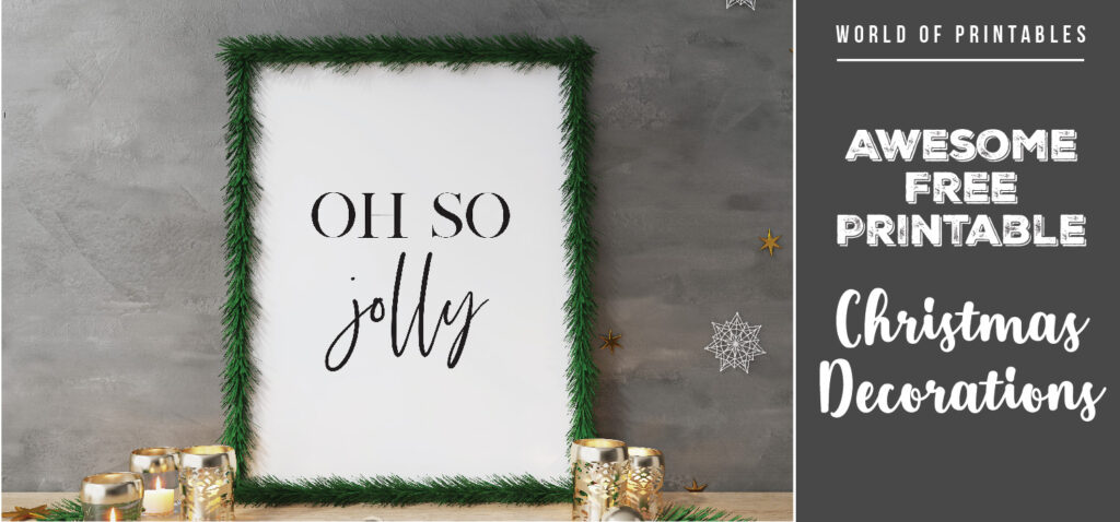 Awesome Free Printable Christmas Decorations To Bring Festive Cheer