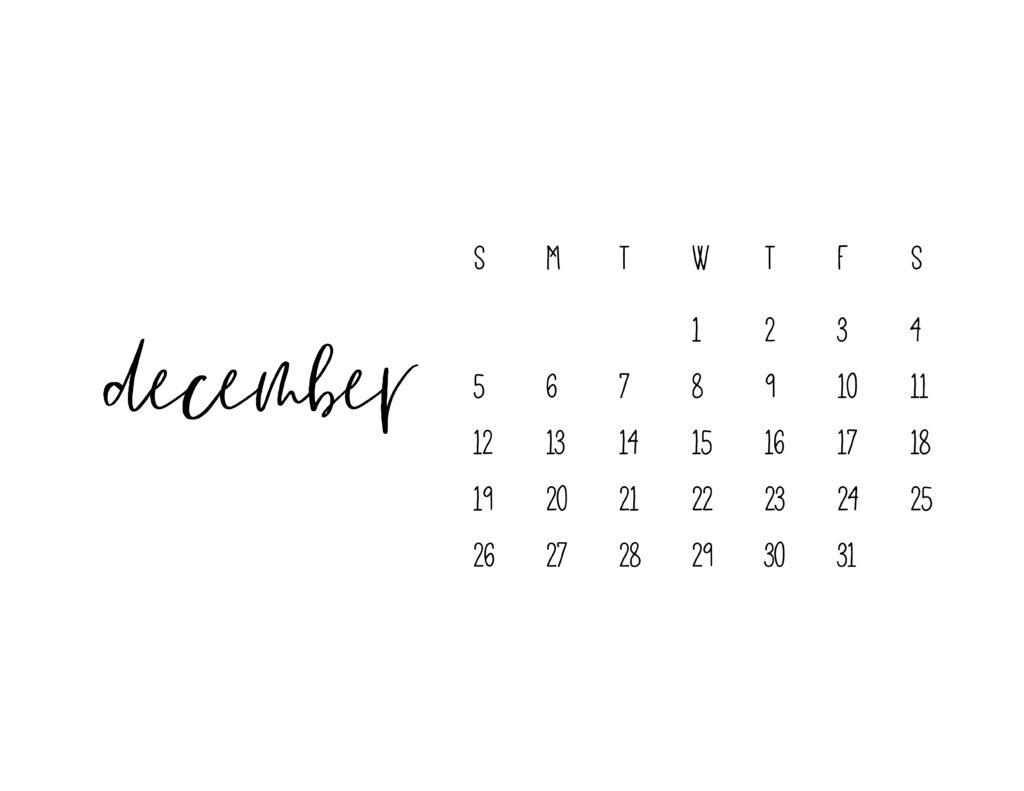 December 2021 Calendar Printable Free Template