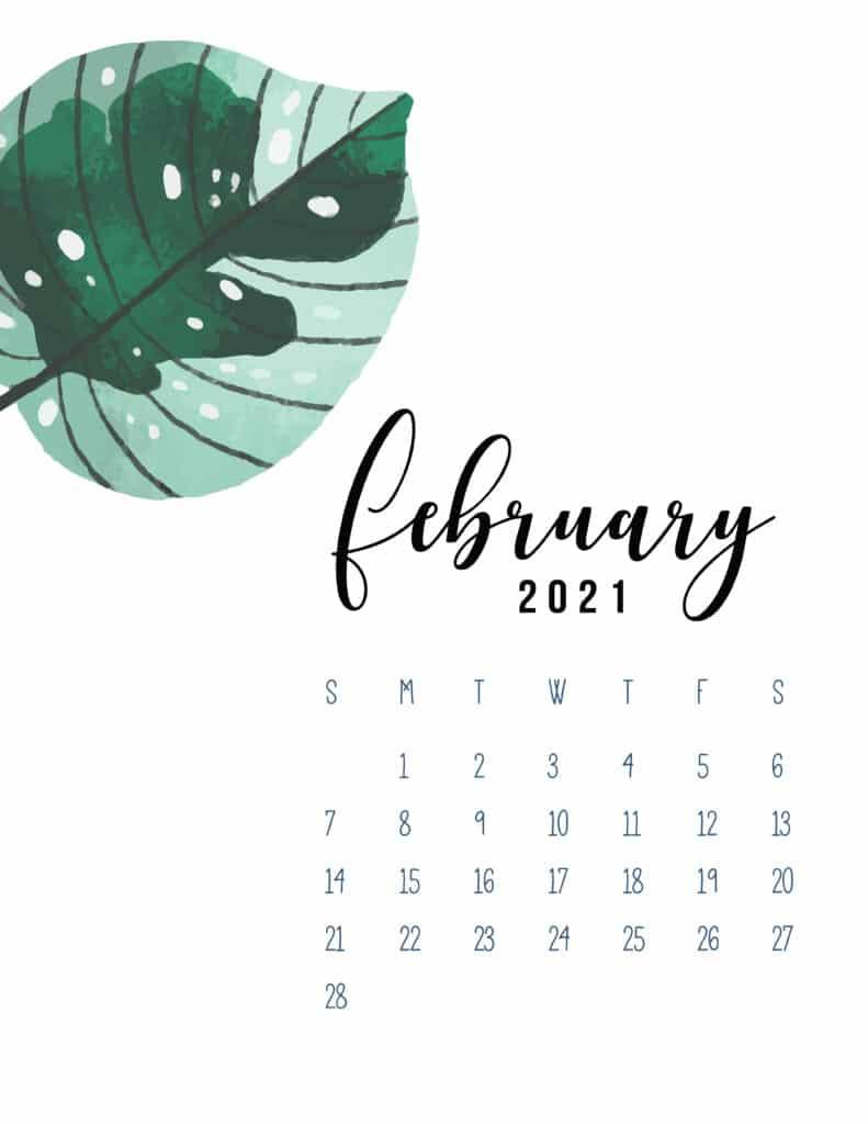 February 2021 Botanical Calendar