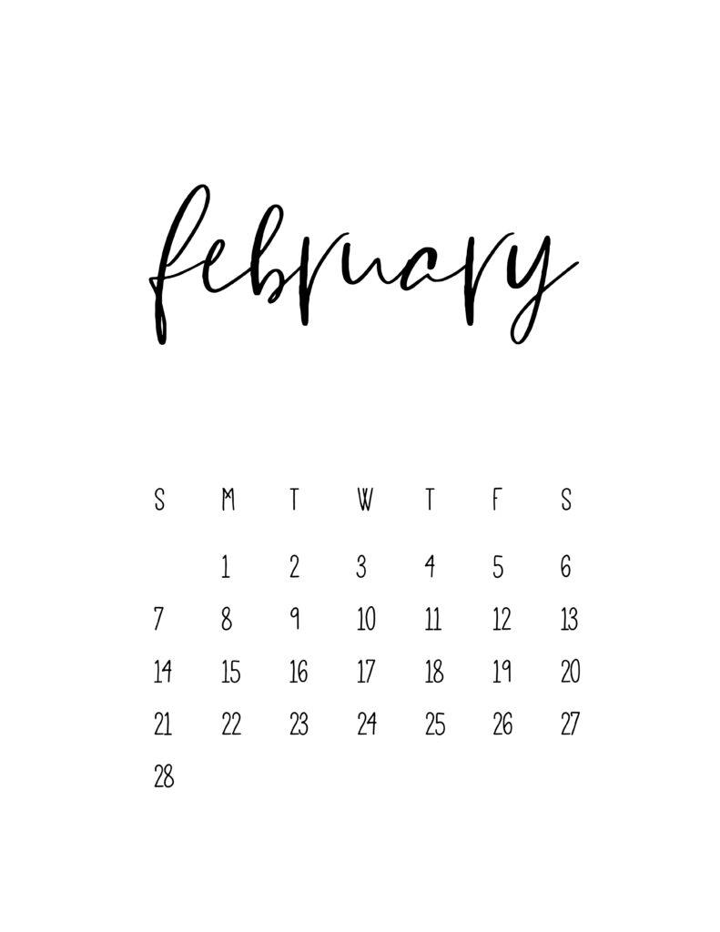 February 2021 Calendar Free Printable Template