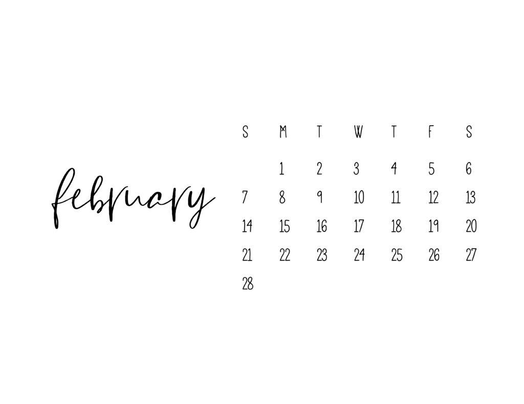 February 2021 Calendar Printable Free Template