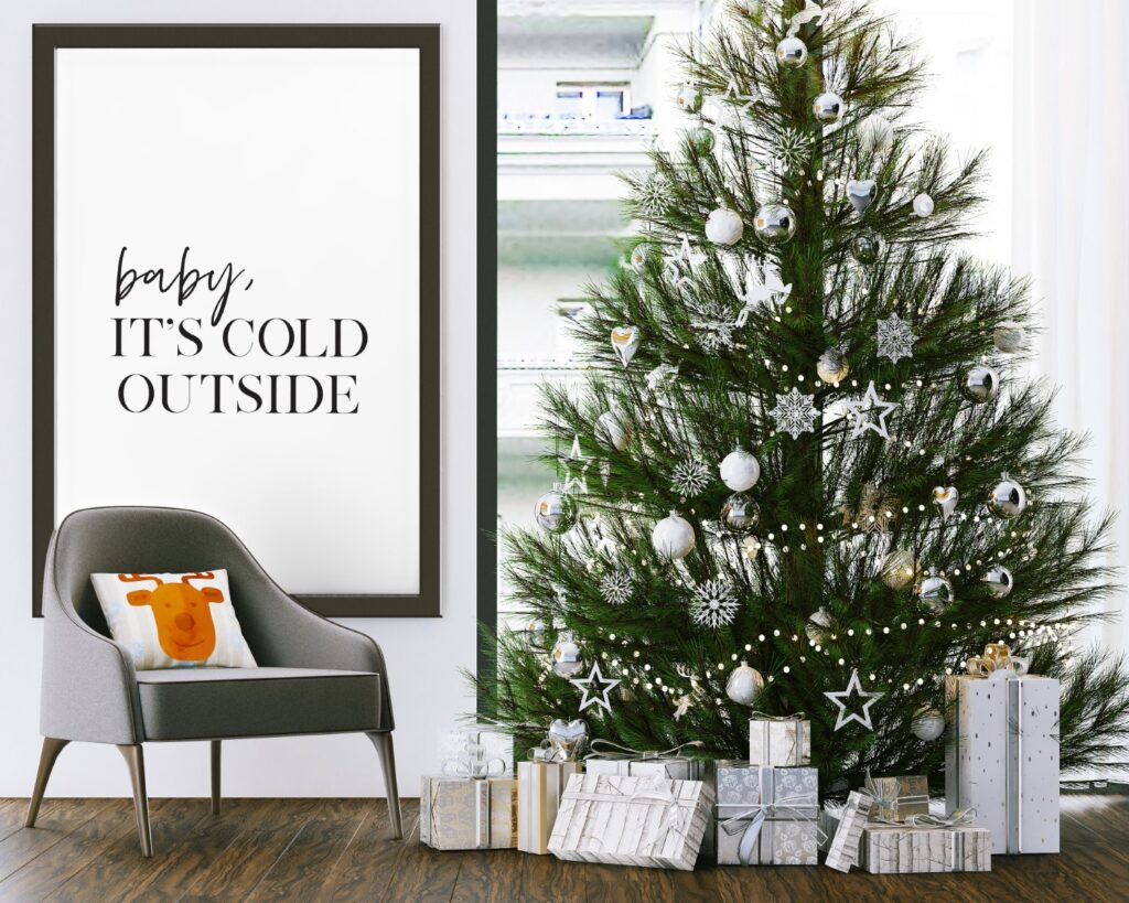 Free Baby It's cold outside printable wall art