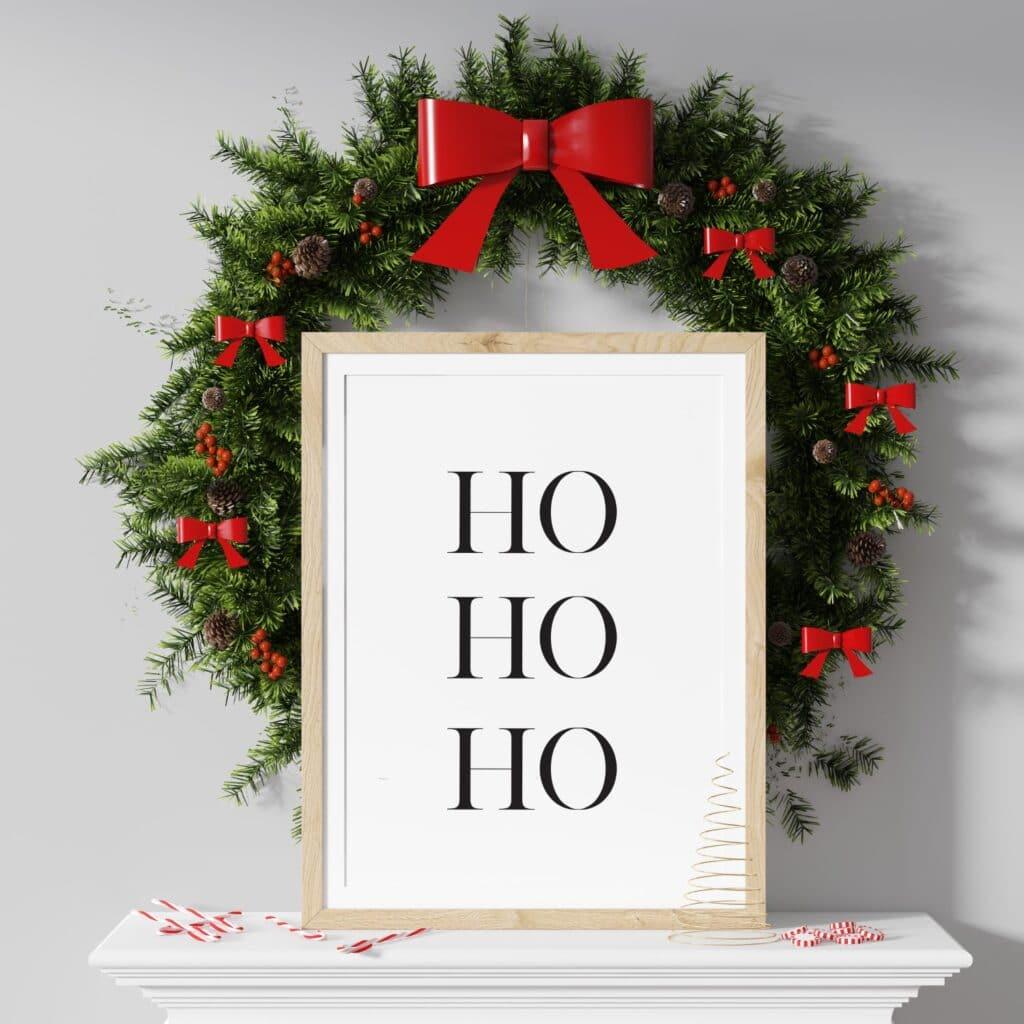Free Ho Ho Ho printable wall art