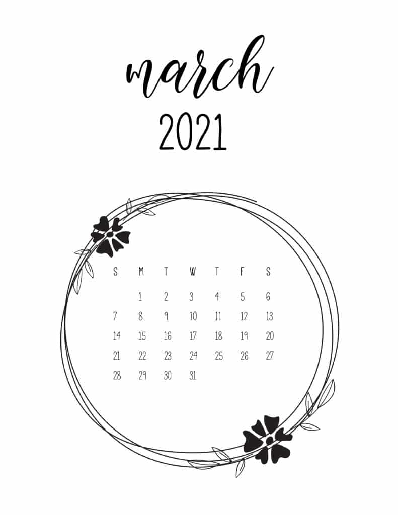 68 Printable March 2021 Calendar Templates To Choose From