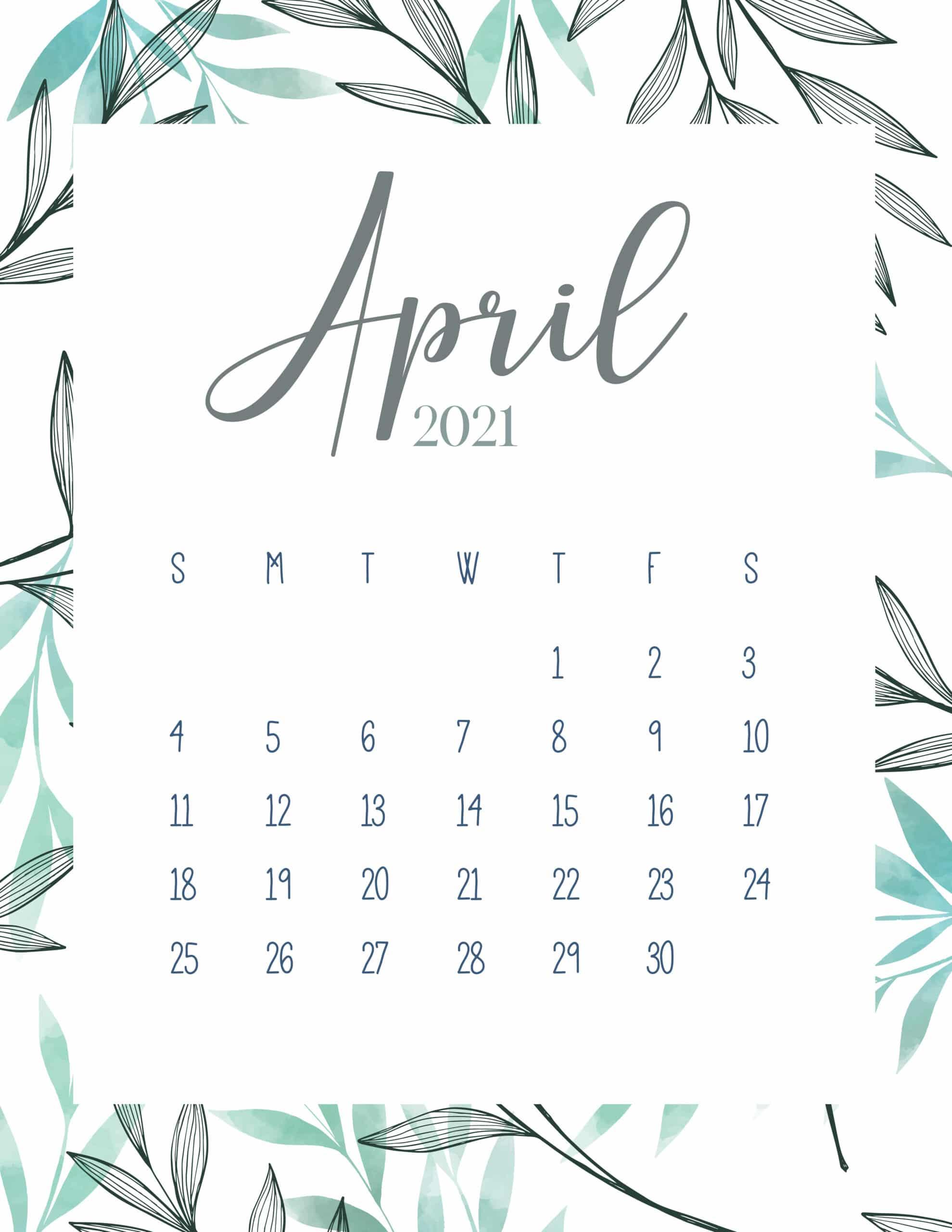Free Printable 2021 Botanical Calendar - World of Printables